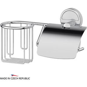 Держатель туалетной бумаги и освежителя FBS Luxia с крышкой, хром (LUX 054)