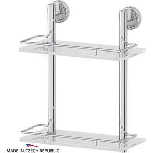 купить Полка стеклянная FBS Luxia 2-х ярусная 30 см, хром (LUX 062) по цене 11655 рублей