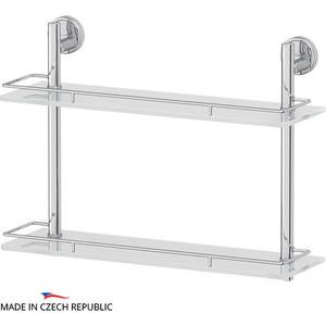 Полка стеклянная FBS Luxia 2-х ярусная 50 см, хром (LUX 064)