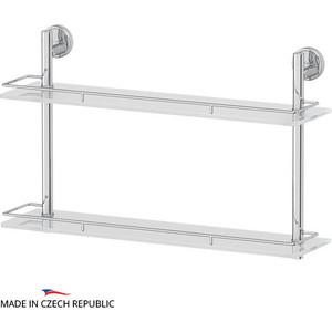Полка стеклянная FBS Luxia 2-х ярусная 60 см, хром (LUX 065)