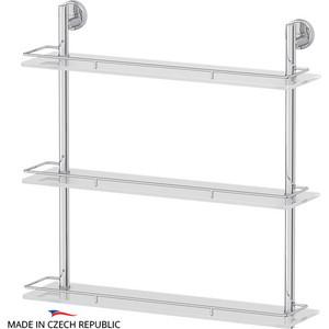 Полка стеклянная FBS Luxia 3-х ярусная 60 см, хром (LUX 070)