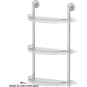 Полка стеклянная FBS Luxia 3-х ярусная 40 см, хром (LUX 082)