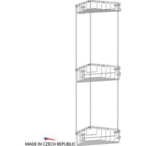 Полка-решетка FBS Ryna угловая 3-х ярусная 18/18/18 см, хром (RYN 004)