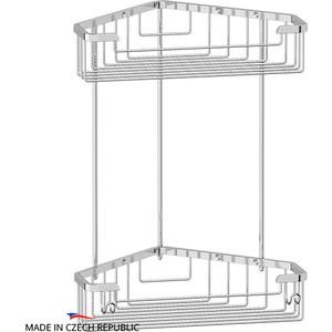 Полка-решетка FBS Ryna угловая 2-х ярусная 23/23 см, хром (RYN 006)