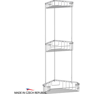 Полка-решетка FBS Ryna угловая 3-х ярусная 18/18/23 см, хром (RYN 007) фото
