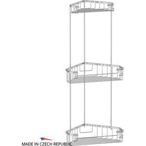 Полка-решетка FBS Ryna угловая 3-х ярусная 18/23/23 см, хром (RYN 008)