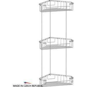 Полка-решетка FBS Ryna угловая 3-х ярусная 23/23/23 см, хром (RYN 009)