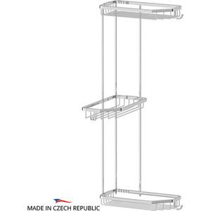 Полка-решетка FBS Ryna угловая 3-х ярусная 20/20/20 см, хром (RYN 014)