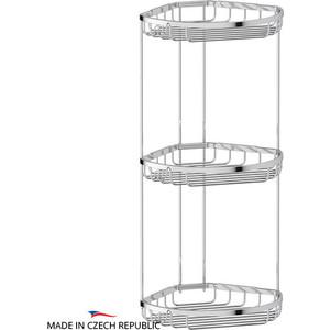 Полка-решетка FBS Ryna угловая 3-х ярусная 26/26/26 см, хром (RYN 027) полка кухонная lemax комбинированная навесная на рейлинг цвет хром 39 х 17 3 х 26 5 см