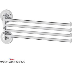 Полотенцедержатель поворотный Ellux Elegance четверной 37 см, хром (ELE 018)