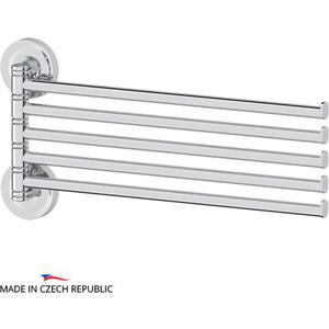 Полотенцедержатель поворотный Ellux Elegance пятерной 37 см, хром (ELE 019)