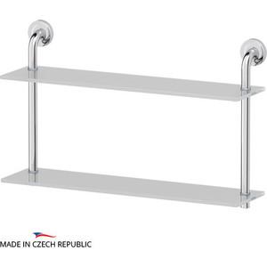 Полка стеклянная Ellux Elegance 2-х ярусная 60 см, хром (ELE 037)