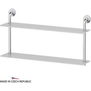 Полка стеклянная Ellux Elegance 2-х ярусная 70 см, хром (ELE 038)