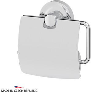 Держатель туалетной бумаги Ellux Elegance с крышкой, хром (ELE 066) держатель запасных рулонов туалетной бумаги ellux elegance ele 064