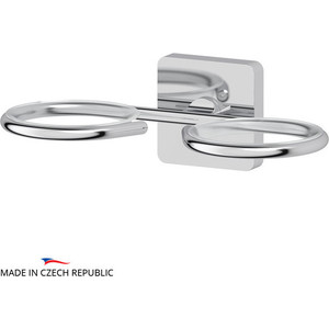Запасной держатель стакана или дозатора мыла Ellux Avantgarde двойной, для ELU 001, 002, 003, 004, хром (AVA 007)