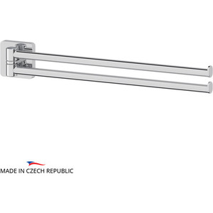 Полотенцедержатель поворотный Ellux Avantgarde двойной 37 см, хром (AVA 016)