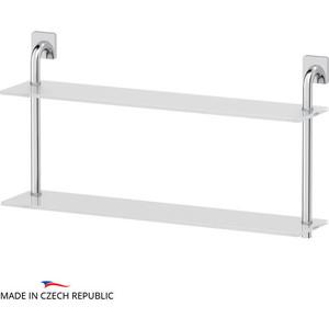 Полка стеклянная Ellux Avantgarde 2-х ярусная 70 см, хром (AVA 038)