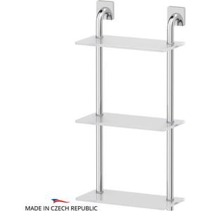 цены на Полка стеклянная Ellux Avantgarde 3-х ярусная 30 см, хром (AVA 040)  в интернет-магазинах