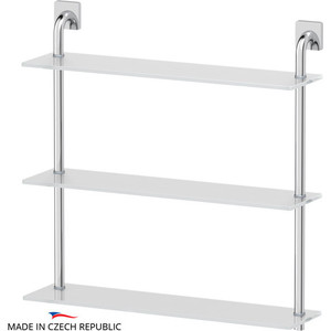 Полка стеклянная Ellux Avantgarde 3-х ярусная 60 см, хром (AVA 043)