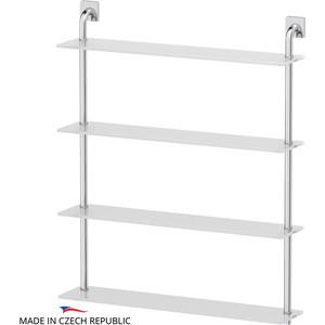 Полка стеклянная Ellux Avantgarde 4-х ярусная 70 см, хром (AVA 050) стол складной outwell rupert table 70 х 116 х 70 см