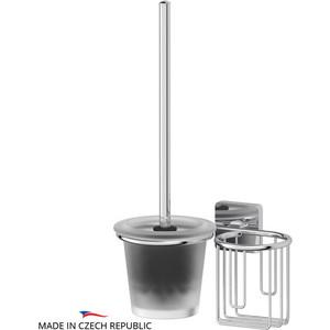 Ершик для унитаза Ellux Avantgarde с держателем освежителя, хром (AVA 072)