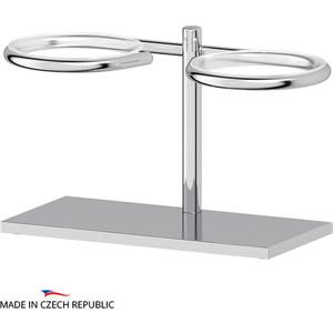 Запасной держатель стакана или дозатора мыла Ellux Domino двойной, для ELU 001, 002, 003, 004, хром (DOM 003)