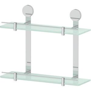 Полка стеклянная Artwelle Harmonie двойная 40 см, хром (HAR 037)