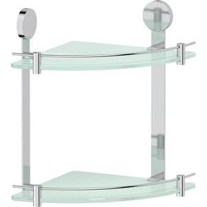цены на Полка стеклянная Artwelle Harmonie угловая двойная 24 см, хром (HAR 040)  в интернет-магазинах