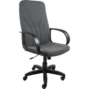 Кресло Алвест AV 101 PL (727) MK ткань 415 серая с черной ниткой