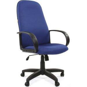 Офисное кресло Chairman 279 JP15-3 черно-голубой компьютерное кресло chairman game 8 черно синий
