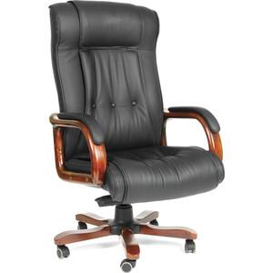 Офисное кресло Chairman 653 черная кожа