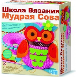 4M Школа вязания Мудрая Сова (00-02764) ws 72 шкатулка мудрая сова 856335