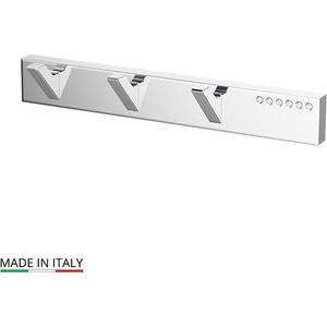 Планка с 3 крючками Lineag Tiffany Lux хром - стразы (TIF 902)