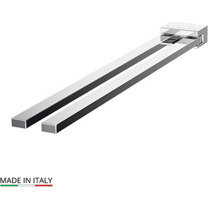 Полотенцедержатель поворотный Lineag Tiffany Lux двойной 31 см, хром - стразы (TIF 907)