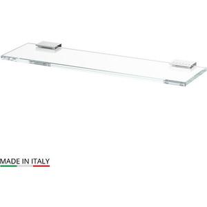 Полка стеклянная Lineag Tiffany Lux 40 см, хром - стразы (TIF 910)