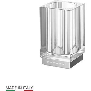 Стакан для ванны Lineag Tiffany Lux UN хром - стразы (TIF 916)