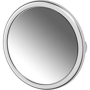 Зеркало косметическое Defesto Pro на присосках, с увеличением x5, хром (DEF 103)