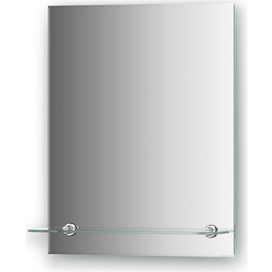 Зеркало Evoform Attractive 40х50 см, с фацетом 5 мм и полочкой 40 см (BY 0501)