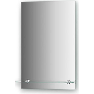 Зеркало Evoform Attractive 40х60 см, с фацетом 5 мм и полочкой 40 см (BY 0502) все цены