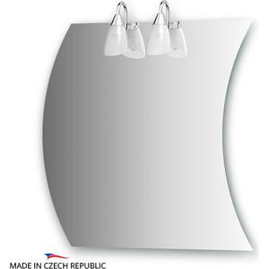 Зеркало Ellux Classic 60/70х70 см, с 2-мя светильниками 80 W (CLA-A2 0416)