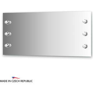 Зеркало Ellux Rondo 130x60 см, с 6-ю светильниками 240 W (RON-A6 9005)