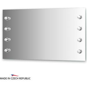 Зеркало Ellux Rondo 130х75 см, с 8-ю светильниками 320 W (RON-A8 9010)