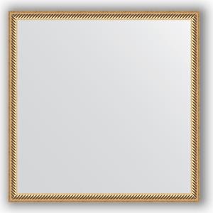 Зеркало в багетной раме Evoform Definite 58x58 см, витое золото 28 мм (BY 0606)