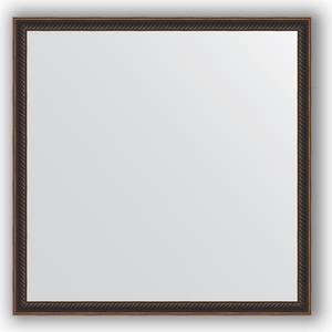 купить Зеркало в багетной раме Evoform Definite 58x58 см, витой махагон 28 мм (BY 0607) онлайн