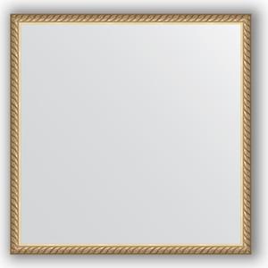 Зеркало в багетной раме Evoform Definite 58x58 см, витая латунь 26 мм (BY 0617)