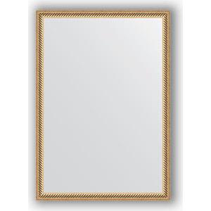 Зеркало в багетной раме поворотное Evoform Definite 48x68 см, витое золото 28 мм (BY 0623) зеркало в багетной раме поворотное evoform definite 48x98 см витое серебро 28 мм by 0691