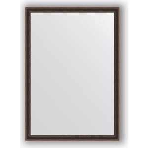 купить Зеркало в багетной раме поворотное Evoform Definite 48x68 см, витой махагон 28 мм (BY 0624) онлайн