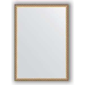 Зеркало в багетной раме поворотное Evoform Definite 48x68 см, витая латунь 26 мм (BY 0634)