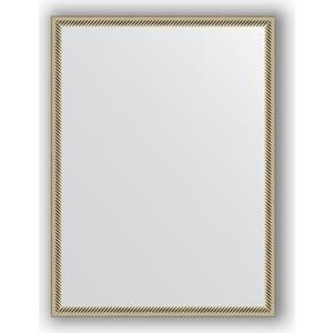 Зеркало в багетной раме поворотное Evoform Definite 58x78 см, витое серебро 28 мм (BY 0639) цены