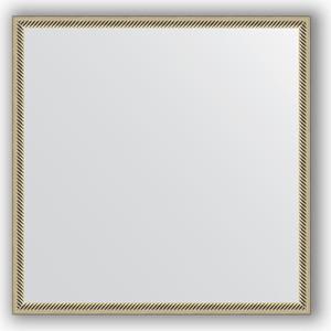 Зеркало в багетной раме Evoform Definite 68x68 см, витое серебро 28 мм (BY 0656) зеркало в багетной раме evoform definite 68x68 см витая латунь 26 мм by 0669